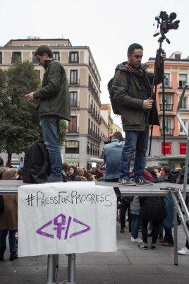 Concentración de Periodistas, Callao, Madrid 8.3.2018