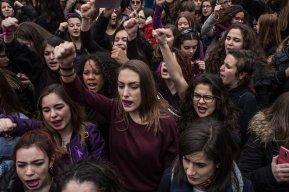 Estudiantes se manifiestan en Sol , Madrid (8.03.2018)