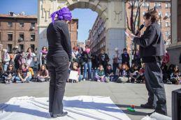 Performance a cargo de las Mujeres de la Mesa de Igualdad de Retito